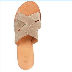 Frye Carla Criss Cross Open Toe Slide Sandals 7.5